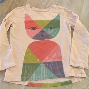 Tea Collection Girls Cat Shirt Size 6